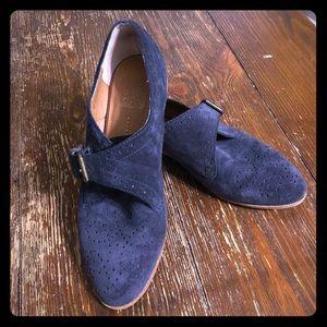 EUC Dolce Vita DV Navy Suede Buckle Shoes Sz 6